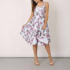 Izabel London - Blue sleeveless flower print dress