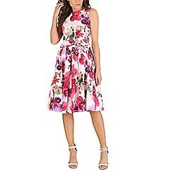 Izabel London - Pink floral print dress