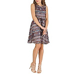 Mela - Multicoloured multi aztec print dress