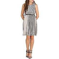 Mela - Black vertical stripe dress