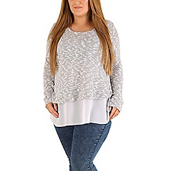 Samya - Grey contrast hem top