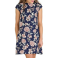 Mela - Navy floral tea dress