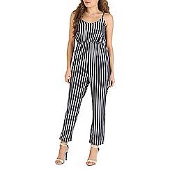 Mela - Navy navy & white stripe jumpsuit