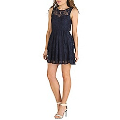 Mela - Navy sweetheart lace dress