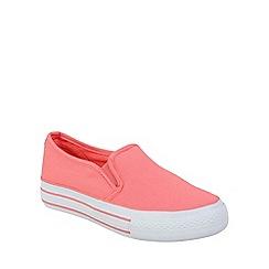 Keddo - Pink skater style canvas pump