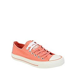 Keddo - Pink canvas lace up pump