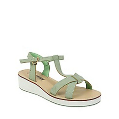 Betsy - Green chunky t bar sandals