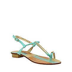 Betsy - Light blue simple sandals with toe loop