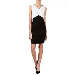 Zibi London - Black monochrome zip back dress
