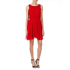 Zibi London - Red open back skater dress