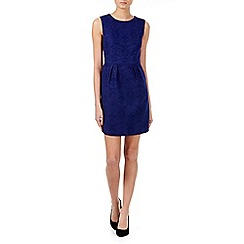 Zibi London - Navy jacquard fitted dress
