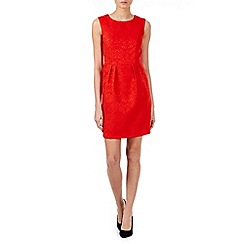 Zibi London - Red jacquard fitted dress