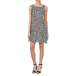 Zibi London - White cutabout stripe crepe dress