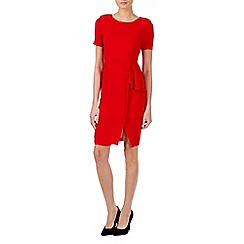 Zibi London - Red ruffles peplum dress