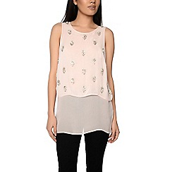 Alice & You - Pink embellished layered top