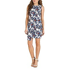 Poppy Lux - White philana floral print dress