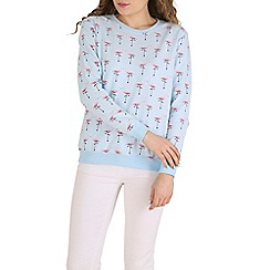 Sugarhill Boutique - Blue flamingo jumper