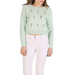 Sugarhill Boutique - Green pineapple jumper