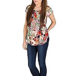 Solo - Multicoloured top with layer effect