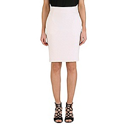 Solo - Off white textured skirt