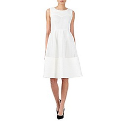 Zibi London - White textured scuba midi dress