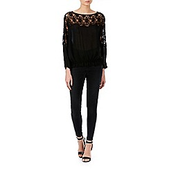 Zibi London - Black lace panel top