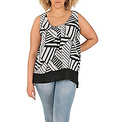 Samya - Black monochrome overlay top