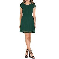 Tenki - Green plain chiffon dress