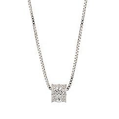 Buckley London - Silver london rocks sparkle pendant