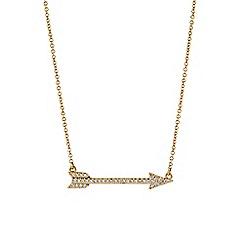 Buckley London - Gold metropolitan arrow pendant