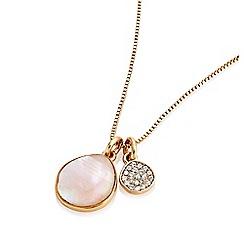 Buckley London - Gold chelsea sparkle charm pendant