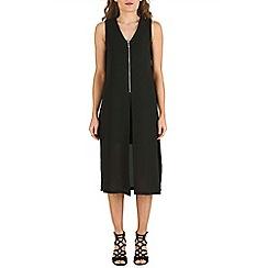 Izabel London - Black front zip layered dress
