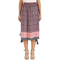 Izabel London - Pink boho midi skirt