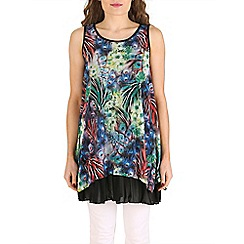 Izabel London - Blue layered abstract print top