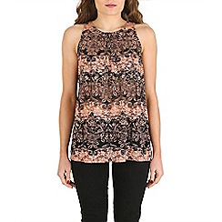Izabel London - Peach floral vest top