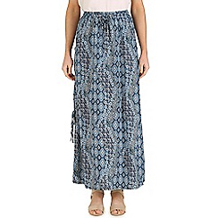 Izabel London - Blue circle wave maxi skirt