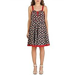 Izabel London - Navy cherry print dress