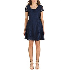 Izabel London - Navy lace skater dress