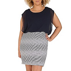 Samya - Navy stripe bottom dress