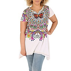 Samya - White print tunic top