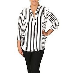 Samya - White pin striped button top