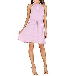 Cutie - Lilac halter neck textured dress