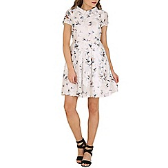 Cutie - White bird print embellished dress