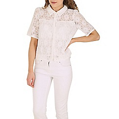 Cutie - White sheer lace shirt