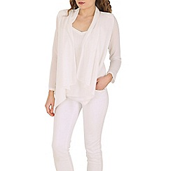 Cutie - White waterfal blazer