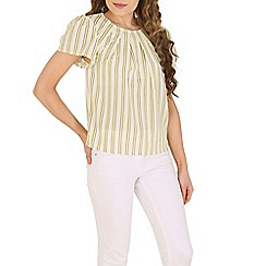 Cutie - Yellow striped pleated top
