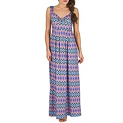 Mela - Multicoloured aztec maxi dress