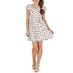 Mela - White print dress