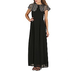 Mela - Black sequin shoulder maxi dress