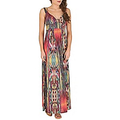 Mela - Multicoloured multi print maxi dress